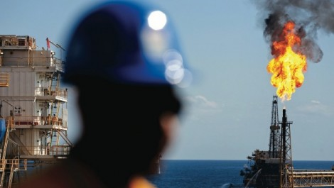 Offshore oil rigs. Photo: Bloomberg